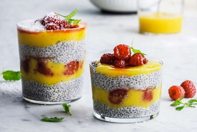 Pudding à la mangue et graines de chia